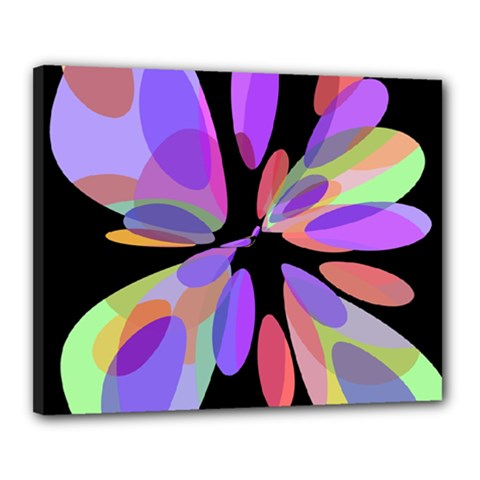 Colorful abstract flower Canvas 20  x 16