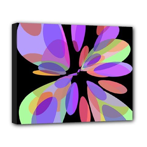 Colorful abstract flower Deluxe Canvas 20  x 16