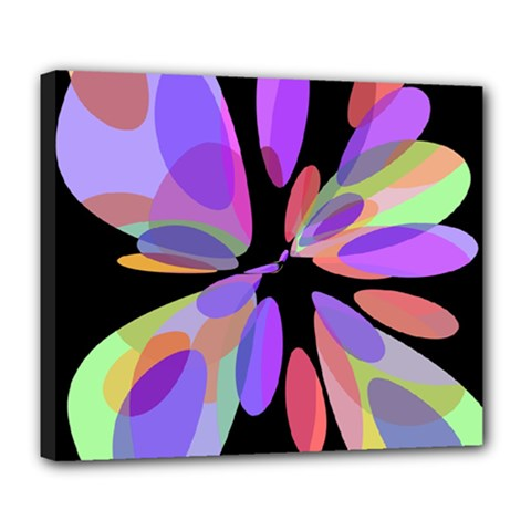 Colorful abstract flower Deluxe Canvas 24  x 20