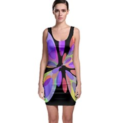 Colorful abstract flower Sleeveless Bodycon Dress