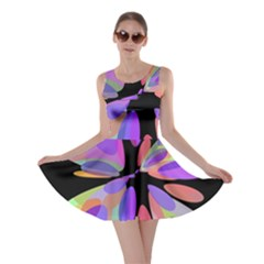 Colorful abstract flower Skater Dress