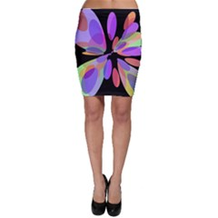 Colorful abstract flower Bodycon Skirt