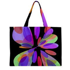 Colorful abstract flower Zipper Mini Tote Bag