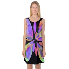 Colorful abstract flower Sleeveless Satin Nightdress