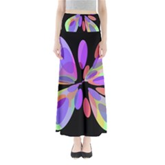 Colorful abstract flower Maxi Skirts