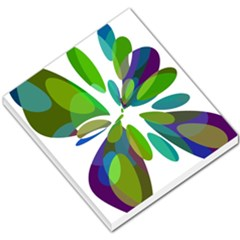 Green abstract flower Small Memo Pads