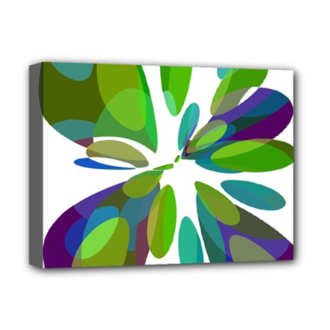 Green abstract flower Deluxe Canvas 16  x 12