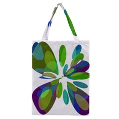 Green abstract flower Classic Tote Bag
