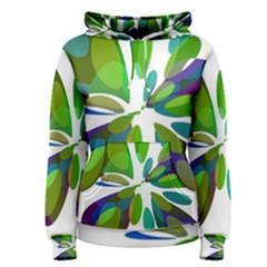 Green abstract flower Women s Pullover Hoodie