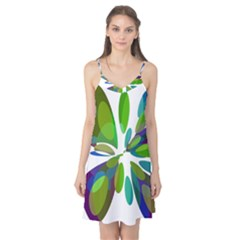 Green abstract flower Camis Nightgown