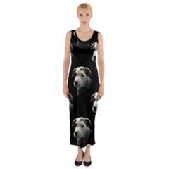 Pit Bull T Bone Puppy Fitted Maxi Dress