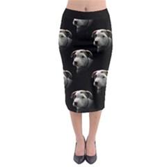 Pit Bull T-Bone Puppy Midi Pencil Skirt