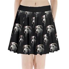 Pit Bull T Bone Puppy Pleated Mini Mesh Skirt