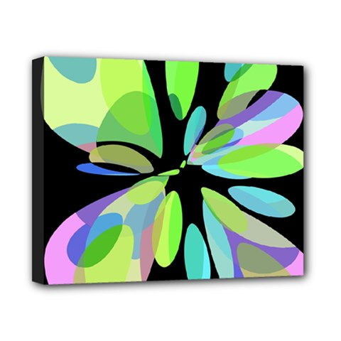 Green abstract flower Canvas 10  x 8