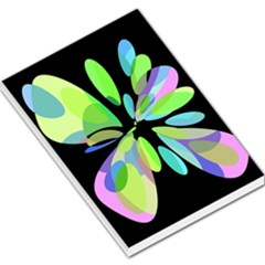 Green abstract flower Large Memo Pads