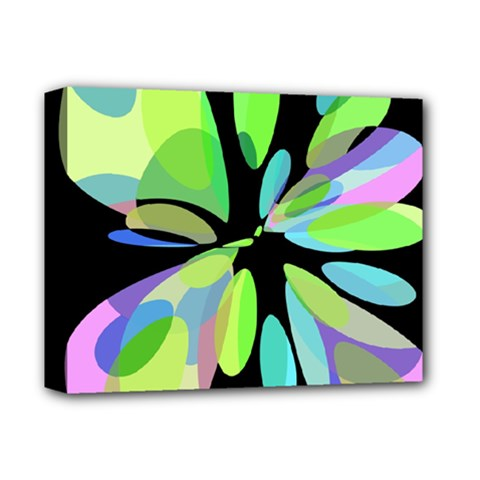 Green abstract flower Deluxe Canvas 14  x 11