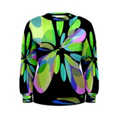 Green abstract flower Women s Sweatshirt