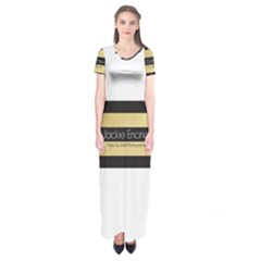 Jackie Encinas Short Sleeve Maxi Dress