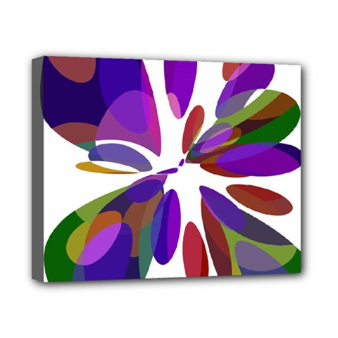 Colorful abstract flower Canvas 10  x 8