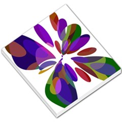 Colorful abstract flower Small Memo Pads