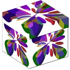 Colorful abstract flower Storage Stool 12