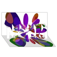 Colorful Abstract Flower Mom 3d Greeting Card (8x4)