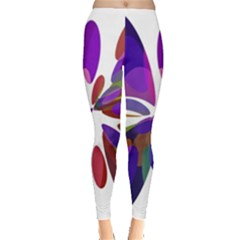 Colorful abstract flower Leggings