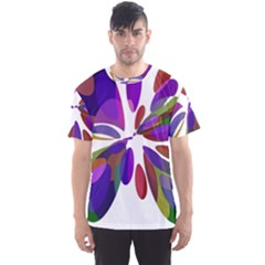 Colorful abstract flower Men s Sport Mesh Tee