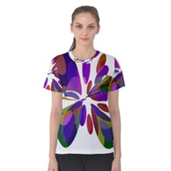 Colorful abstract flower Women s Cotton Tee
