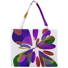 Colorful Abstract Flower Mini Tote Bag