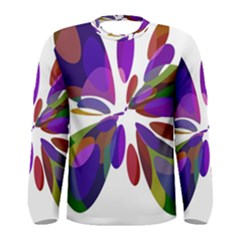 Colorful abstract flower Men s Long Sleeve Tee