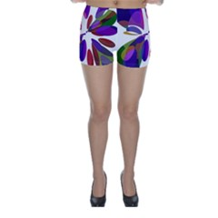 Colorful abstract flower Skinny Shorts