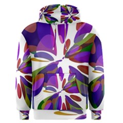 Colorful abstract flower Men s Pullover Hoodie