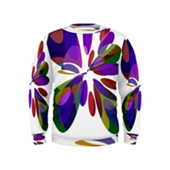 Colorful abstract flower Kids  Sweatshirt