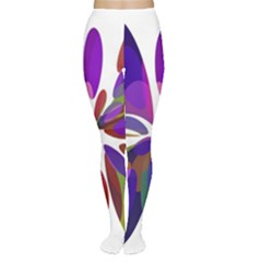 Colorful abstract flower Women s Tights