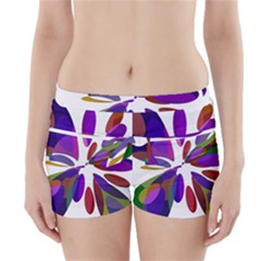 Colorful abstract flower Boyleg Bikini Wrap Bottoms