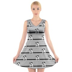 Pit Bull T Bone V Neck Sleeveless Skater Dress