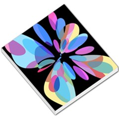 Blue abstract flower Small Memo Pads