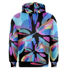 Blue abstract flower Men s Pullover Hoodie