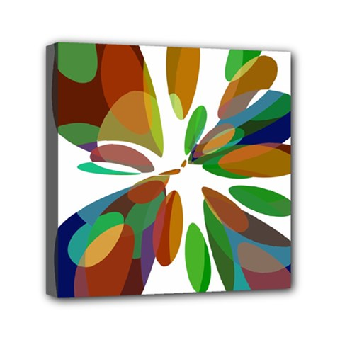 Colorful abstract flower Mini Canvas 6  x 6