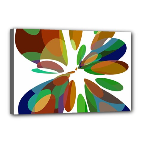 Colorful abstract flower Canvas 18  x 12