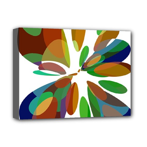 Colorful abstract flower Deluxe Canvas 16  x 12