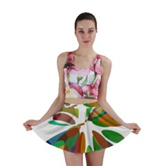 Colorful abstract flower Mini Skirt