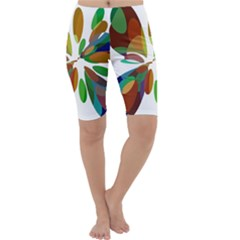 Colorful abstract flower Cropped Leggings