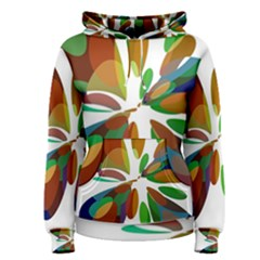 Colorful abstract flower Women s Pullover Hoodie