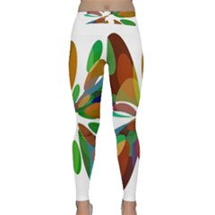 Colorful abstract flower Yoga Leggings