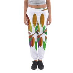 Colorful abstract flower Women s Jogger Sweatpants