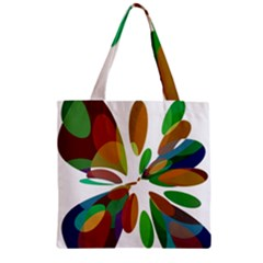Colorful abstract flower Zipper Grocery Tote Bag