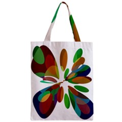 Colorful abstract flower Zipper Classic Tote Bag