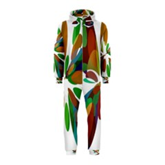 Colorful abstract flower Hooded Jumpsuit (Kids)